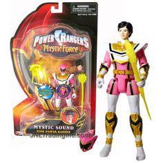"Bandai Power Rangers Mystic Force Series 5-1/2"" Tall Figure - MYSTIC SOUND PINK POWER RANGER with Sound FX, Alternative Head Plus Magi Staff & Wand"