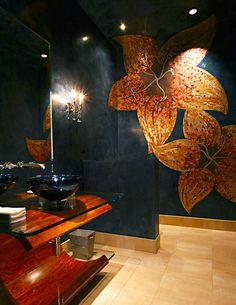 Stenciled Mosaic | Modello® Designs Stenciled Wall Treatment by Anna & Scott Sadler