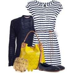 Casual Dress with a Cardigan