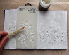 Frilly and Funkie: Saturday Step by Step - Stencils and Crackle and Journals, oh my!