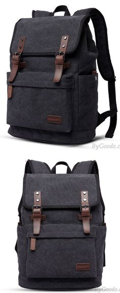 1915bc08b5 Retro Large Thick Outdoor Hiking Bag Men s Double Belt Canvas Backpack   backpack  bag