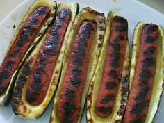 Zucchini Weenies... Well, I guess if you are going for a low carb meal