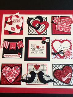 Stampin' Up Valentine Sampler - made this during a class last week.  Love it!