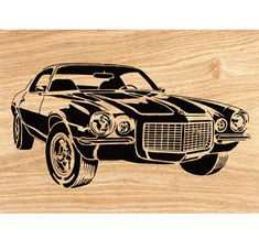 1970  Camaro Z28 Scrolled Wall Art Pattern