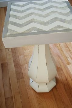 reckless glamour: chevron side table.