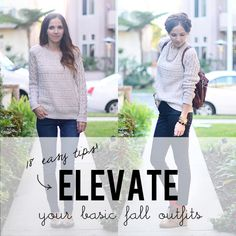 18 Tips to Elevate Your Basic Fall Outfits!