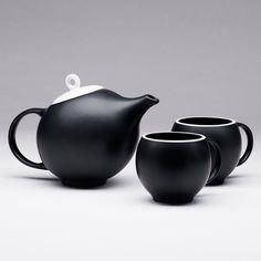 Fancy - Black Matte EVA 3-Piece Tea Set