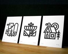 Letterpress Prints Set