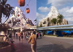 Disneyland Matterhorn and Skyway, 1964 and 2007 - uh, which would you rather visit?
