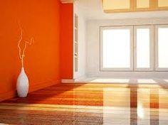 Resultado de imagem para grafiato laranja sala