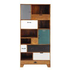 Solid mango wood bookcase W 90cm Picadilly | Maisons du Monde