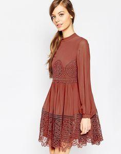 Image 1 of ASOS Lace Babydoll Swing Dress