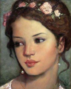 Painting of a girl by Ken Hamilton - Buscar con Google