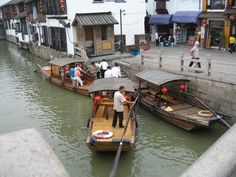 Shanghai's Venice  Located in a suburb of Shanghai city, Zhujiajiao is an ancient water town well-known throughout the country, with a history of more than 1700 years.