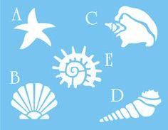 starfish stencils | Stencil Seashell Starfish Snail Nautical Beach Decor | eBay