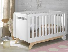 Gitterbettchen Bonheur weiß Sand 70 x 140 cm Rustic Baby Cribs, Toddler Cot, Baby Deco, Mini Crib, Baby Furniture, Kid Beds, Room, Home Decor, Prams