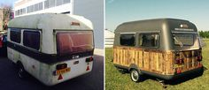 I Converted A Vintage Caravan Into A Mobile Office Space   |  Before and after renovation.