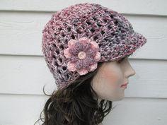 Newsboy hat Crochet Hat Winter Hat Buckle Beanie Womens Beanie womens winter hats Crochet visor hat Baseball Driver Cap All Season BEANIE