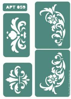 Трафарет 059 - зелёный,трафарет,трафареты,материалы для творчества,Декупаж
