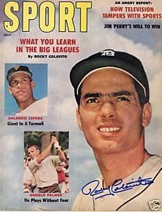 rocky colavito magazine | Amazon.com: Rocky Colavito Autograph Sport Magazine July 1961: Sports ...