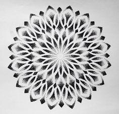 Best Geometric Tattoos And Symbolism Dotwork Tattoo Mandala, Geometric Mandala Tattoo, Geometric Tattoos Men, Mandala Flower Tattoos, Sacred Geometry Tattoo, Mandala Tattoo Design, Mandala Drawing, Flower Mandala, Dot Tattoos