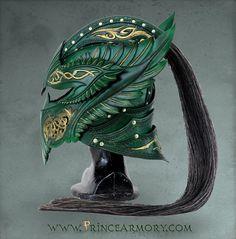 Green Elven Knight Helmet by =Azmal on deviantART