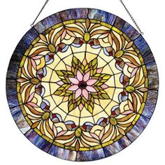 @Overstock - Handcrafted using the same techniques that were developed by Louis Comfort Tiffany in the early 1900s, this beautiful Tiffany-style piece contains hand-cut pieces of stained glass, each wrapped in fine copper foil.http://www.overstock.com/Home-Garden/Tiffany-style-Victorian-Window-Panel/5102728/product.html?CID=214117 $106.05