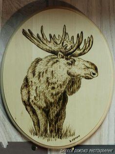 Woodburning of Moose