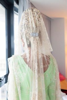 mantilla blanca bodas