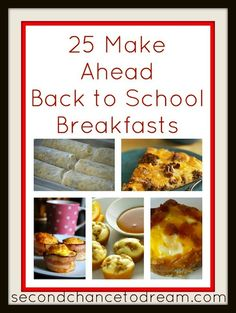 Tips for Back to School Breakfasts by Second Chance to Dream PLUS 7 other Back to School Tips to keep you organized and happy!