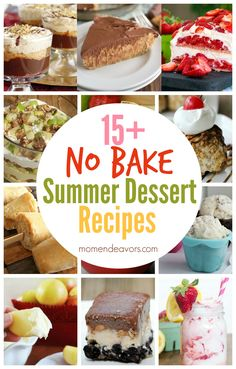 No Bake Summer Dessert Recipes!!