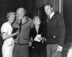 EH04958P Ernest and Mary Hemingway with the Coopers, Sun Valley, Idaho, 1950s.
