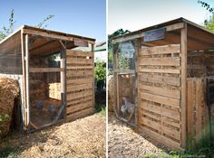 Outdoor Pallet Projects Pallet Ideas for the Urban Farmer Outdoor Pallet Projects, Pallet Crafts, Pallet Ideas, Chicken Coop Pallets, Chicken Coop Plans, Chicken Coops, Recycled Pallets, Wooden Pallets, Chicken Pen