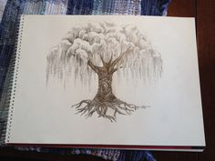 Willow tree drawing - To everyone who pins this - and there are a lot of you... I can do a one of a kind drawing similar to this in pencil, ink, colored pencil, marker, you name it...for 50-100 dollars plus shipping, depending on the size. Framing is extra. Think about it! Real art for your house! salvage.love@outlook.com