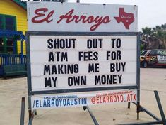 This Restaurant's Signs Are So Funny You'd Probably Come Back Just To Read Them Tex Mex, Professor, Funny Road Signs, Funny Quotes, Funny Memes, Hilarious Sayings, 9gag Funny, Funny Videos, Restaurant Signs