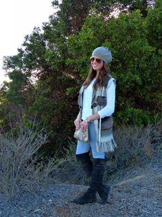 Beanie, Boots and Faux Fur Vest http://wp.me/p44qTX-2Ba