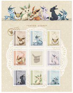 Too gorgeous!   pokemon, eevee, vaporeon, jolteon, flareon,  espeon, umbreon,  leafeon,  glaceon