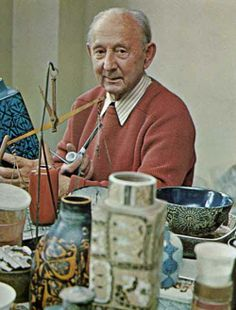 """Nils Thorsson in his studio in Image from the book """"The Royal Copenhagen Porcelain Manufactory Published by Royal Copenhagen, English Edition 1975 - ISBN Pottery Workshop, Ceramic Workshop, Pottery Studio, Royal Copenhagen, Copenhagen Denmark, Ceramic Pottery, Pottery Art, Retro, Pottery Designs"""