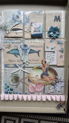 Beach Vacation Pocket letter ~ I can hear the waves just by looking at it ♥ Atc Cards, Card Tags, Paper Cards, Journal Cards, Pocket Pal, Pocket Cards, Pocket Scrapbooking, Scrapbook Paper, Project Life