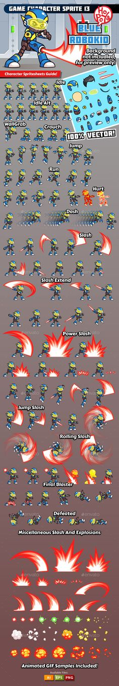 Game Character Sprite 13 - Sprites Game Assets | Download  http://graphicriver.net/item/game-character-sprite-13/10417810?ref=sinzo