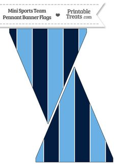 Rays Colors Mini Pennant Banner Flags from PrintableTreats.com