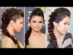 Braided Faux Hawk Hair Tutorial (selena gomez) See more celebrity inspired looks on http://bellashoot.com or click image