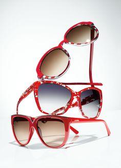 Dolce. Valentino. Red Sunglasses?