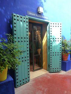 Door At Majorelle Garden In Marrakech