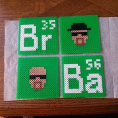 Breaking Bad coasters perler beads by christinerhima