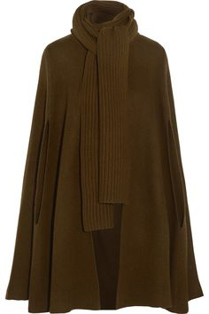 Michael Kors Collection|Ribbed merino wool and cashmere-blend cape|NET-A-PORTER.COM