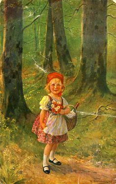 Richard Borrmeister (1876 – 1938,German)  ---   Little Red Ridinghood