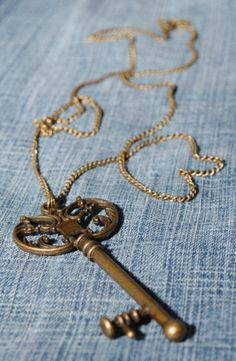 Key necklace by CrystalCharriere on Etsy, $8.00