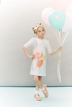 Fabulous balloon dress by Paul Smith Junior, socks from Dore Dore, shoes by Young Soles all at Childrensalon for spring/summer 2016