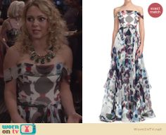 Carrie's polka dot gown on The Carrie Diaries. Outfit Details: http://wornontv.net/25616 #TheCarrieDiaries #fashion